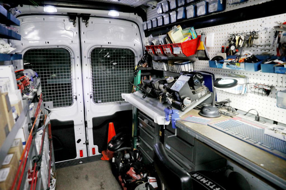Locksmith van interior