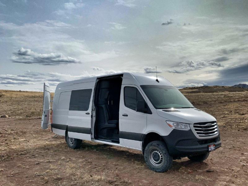Cargo Van Crew Cab Conversion Angle Front Image