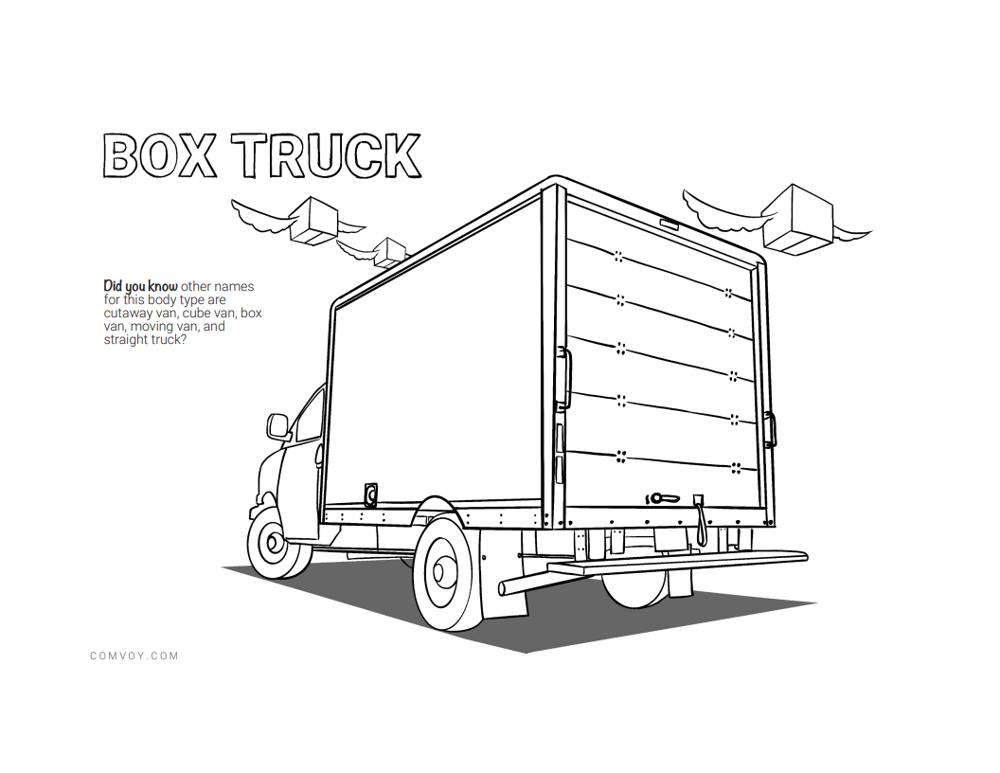 The Work Truck Coloring Book - Box Truck