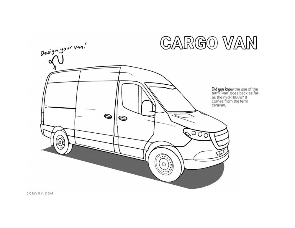 The Work Truck Coloring Book - Cargo Van