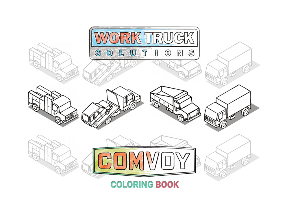 The Work Truck Coloring Book Cover