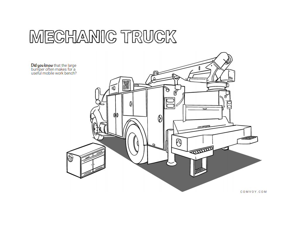 The Work Truck Coloring Book - Mechanics Truck