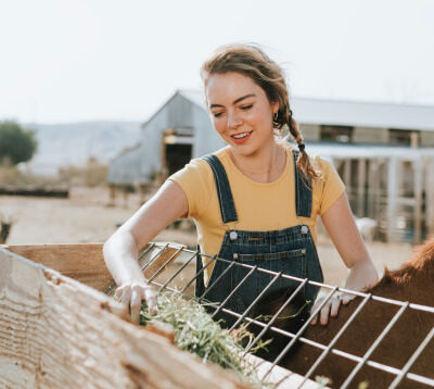 Woman on a farm