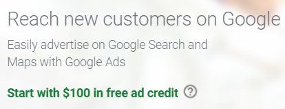 Google My Business Adwords Credit
