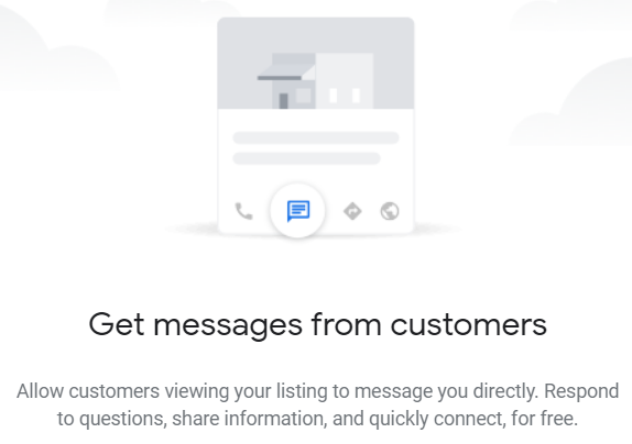 Google My Business Instant Messaging