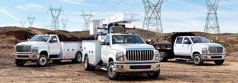 International Truck CV Series Lineup - Service Truck, Crane Truck, Dump Truck