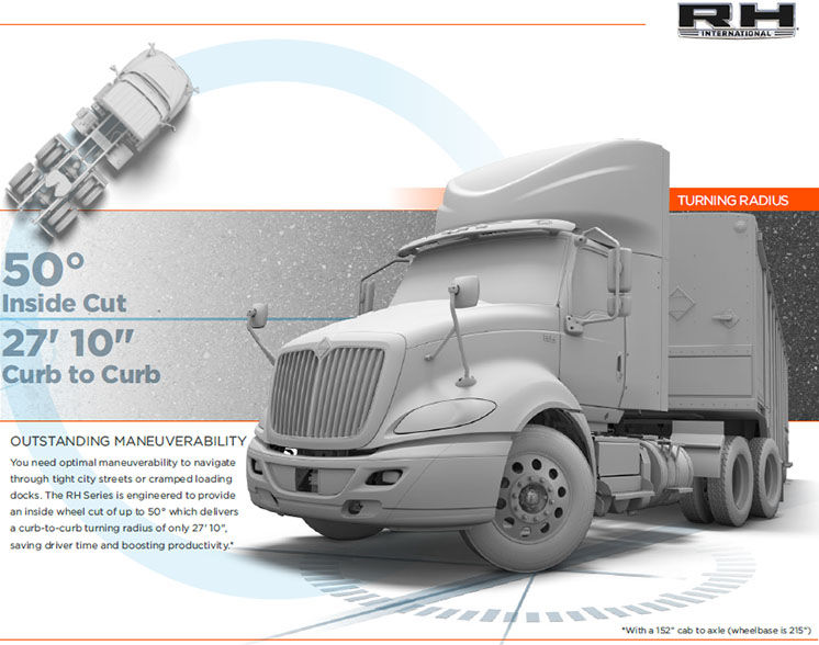 International Truck RH Series - Maneuverability