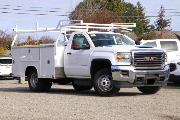 Work truck with service body